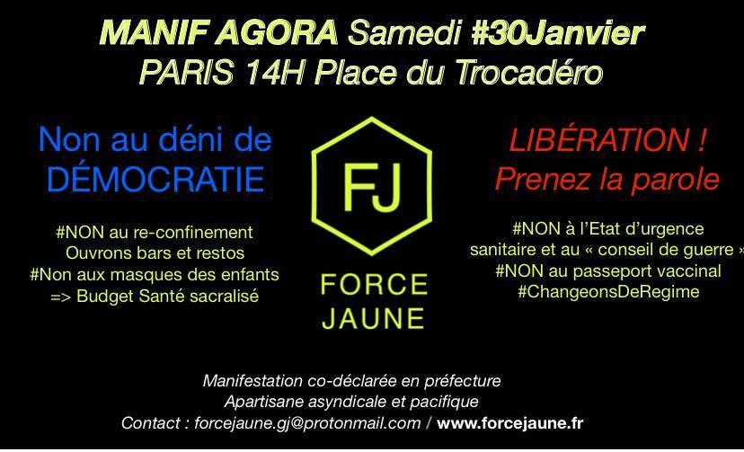 Manif Agora Samedi 30 janvier